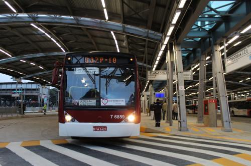 frota de ônibus Virada Cultural SP Terminal Pinheiros fuvest 2018