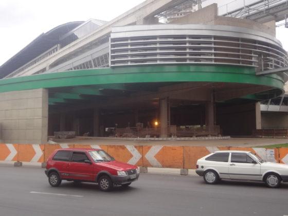 Obras do novo Terminal Vila Prudente