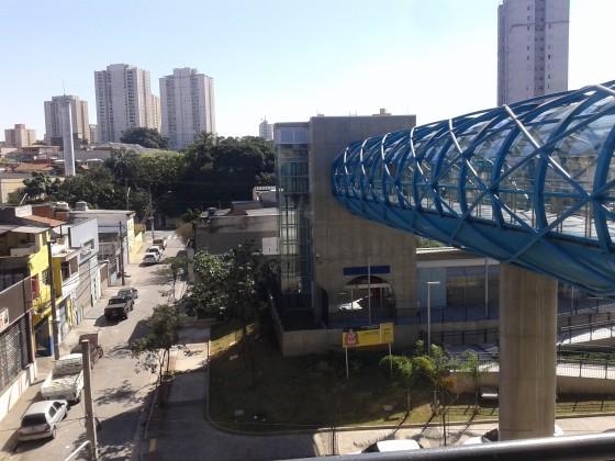 Paese entre as estações Vila Prudente e Oratório