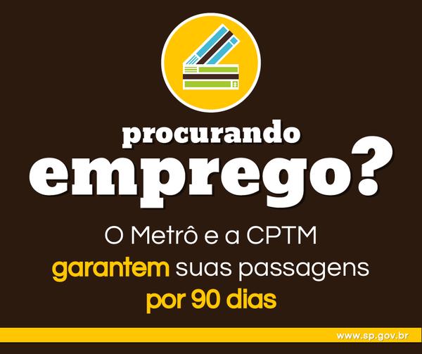 Bilhete Desempregado CPTM Metrô