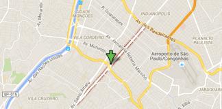 solapamento Avenida Vereador José Diniz