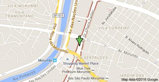 Zona Sul Berrini Shopping Morumbi Avenida Doutor Chucri Zaidan jardim ingá