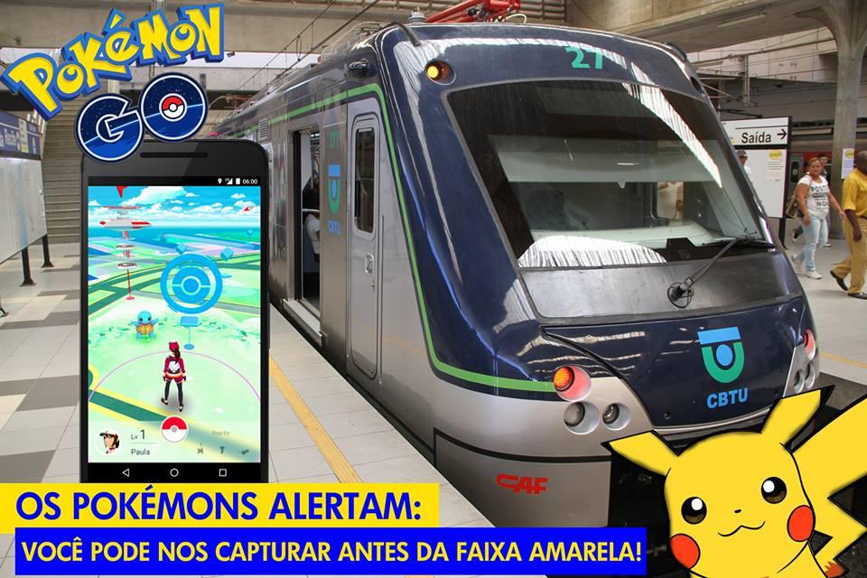 Campanha CBTU Pokémon Go