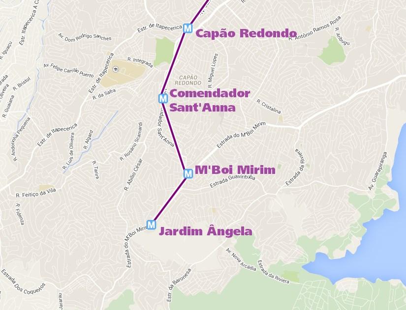 Expansão da Linha 5-Lilás no extremo da Zona Sul