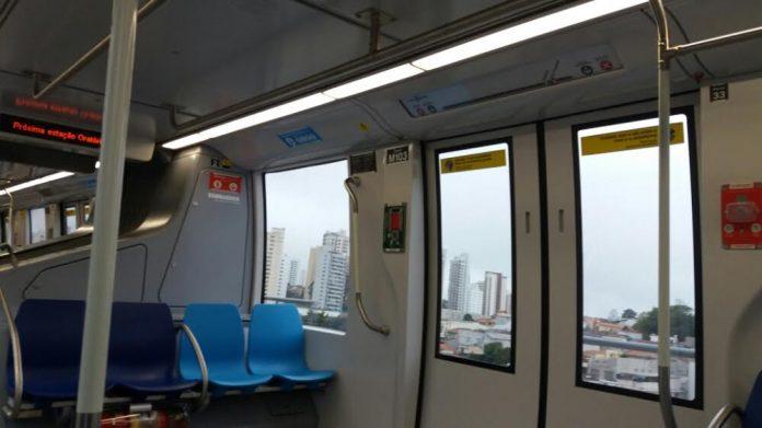 Monotrilho Linha 15-Prata Trem série M10 Monotrilho