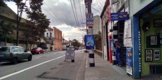 Rua João Antônio de Oliveira faixa de ônibus