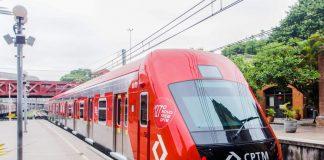 Trem CPTM passageiros transportados
