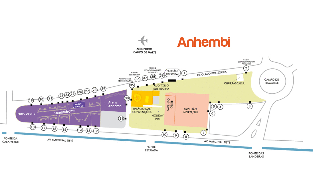 como chegar ao anhembi Campus Party Brasil 2018