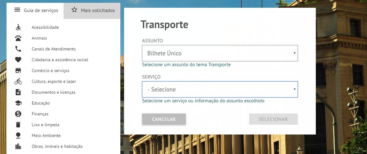 transporte bilhete único