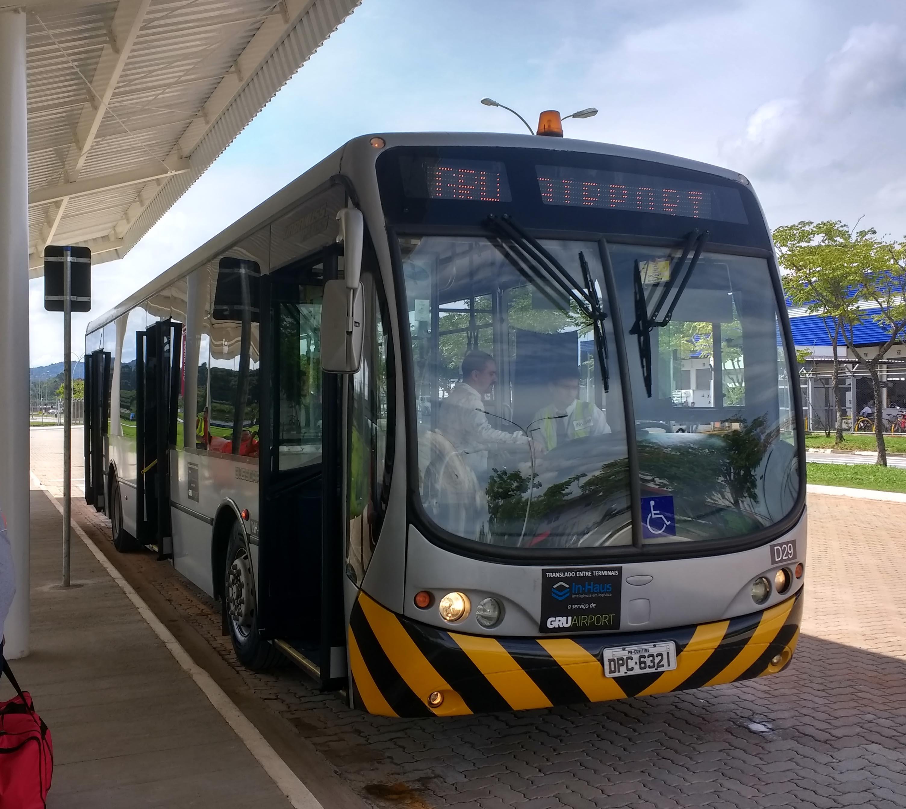 ônibus de traslado aeroporto