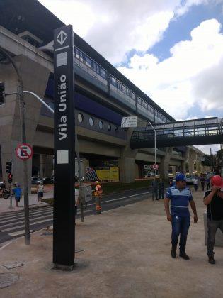 estação vila união linha 15 prata
