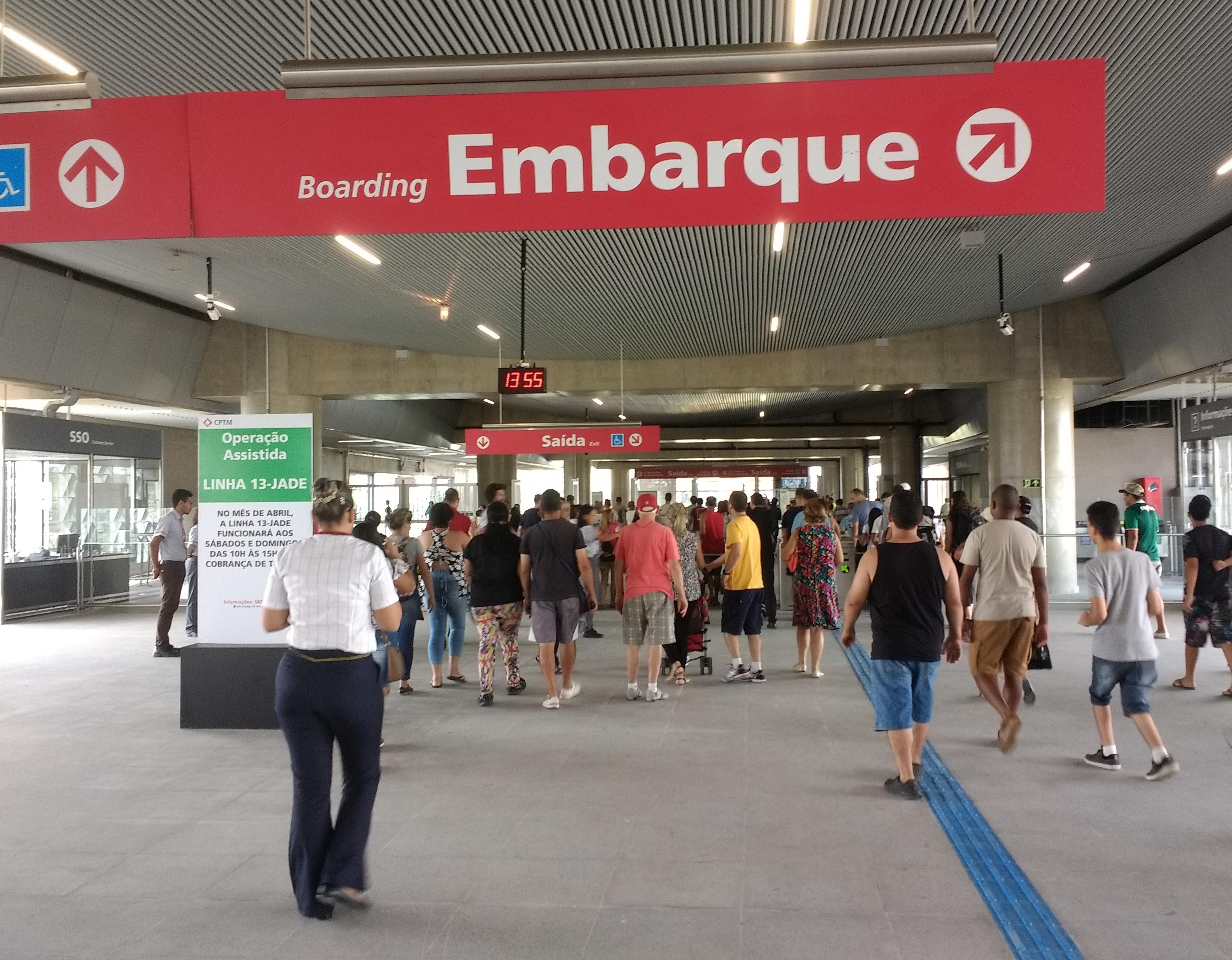 mezanino estação aeroporto