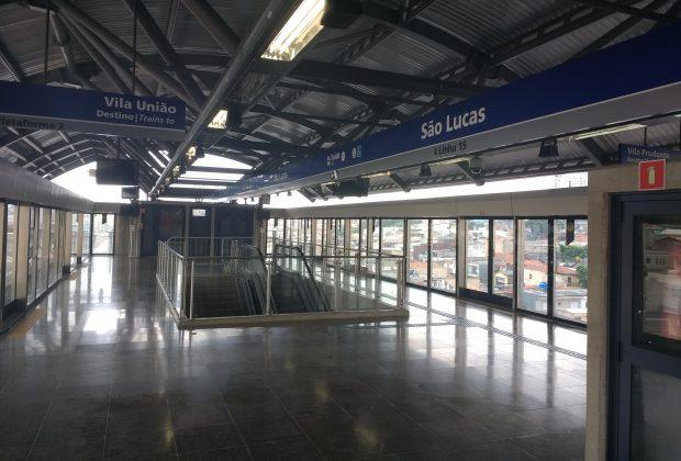 plataforma da estação são lucas