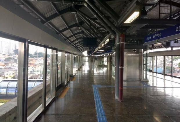 plataforma estação camilo haddad