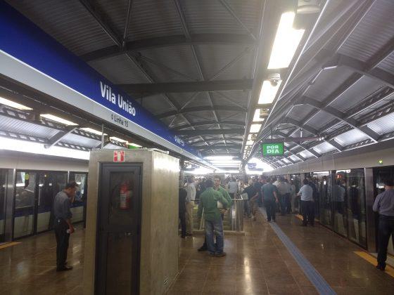 plataforma estação vila união