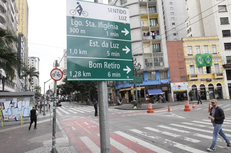 ciclovia placas de sinalização