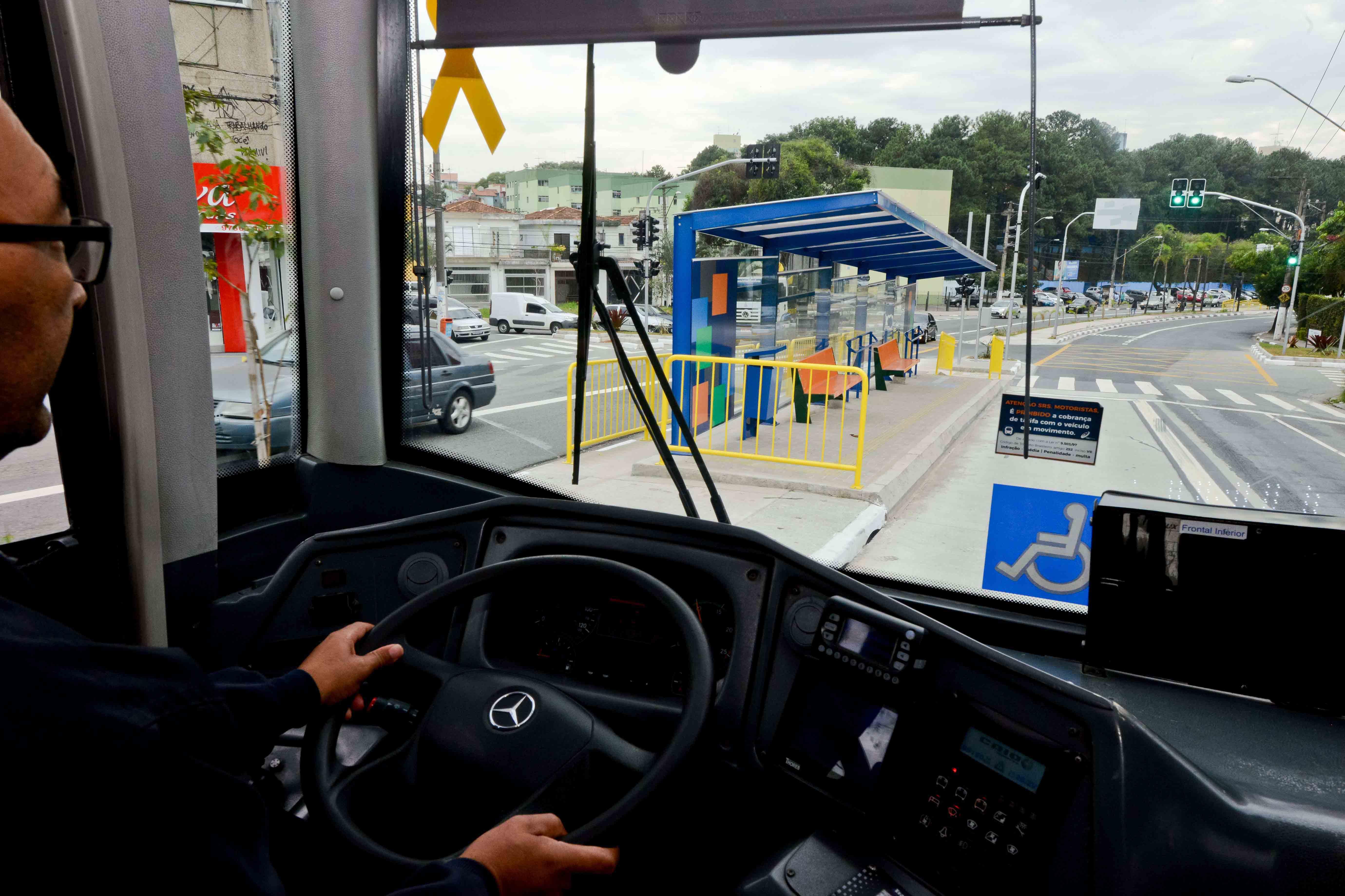 corredor de ônibus em sbc