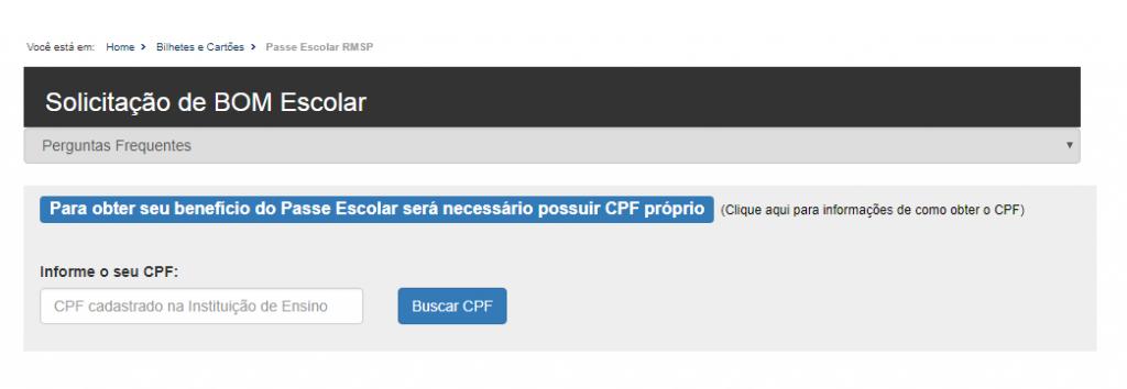 informe o seu cpf