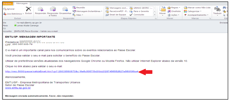 validar email