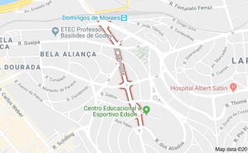 Rua Belmonte Lapa circulação