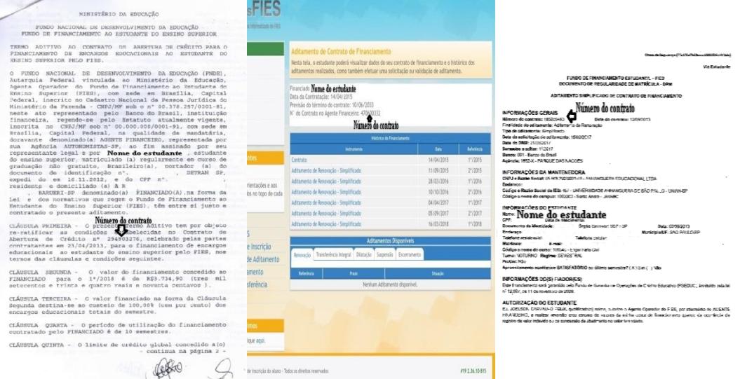 documentos estudantes