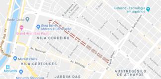 Rua Francisco Dias Velho canteiro de obras