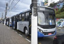 novos ônibus Viação Caieiras Franco da Rocha