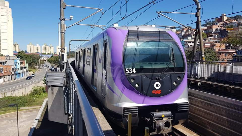 novo trem frota 500 Linha 5-Lilás