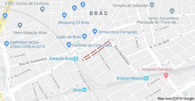 Rua Cavalheiro circulação