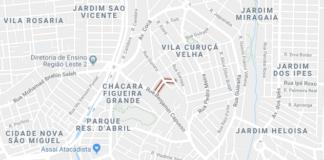Rua Angelino Guerino circulação