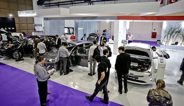 carros veículo elétrico salão