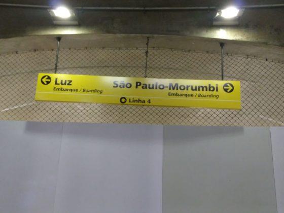 painel indicativo São Paulo-Morumbi