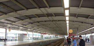 plataforma da estação aeroporto Linha 13-Jade