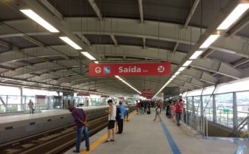 plataforma da estação aeroporto guarulhos Linha 13-Jade