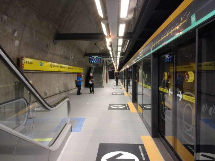 plataforma Estação São Paulo-Morumbi
