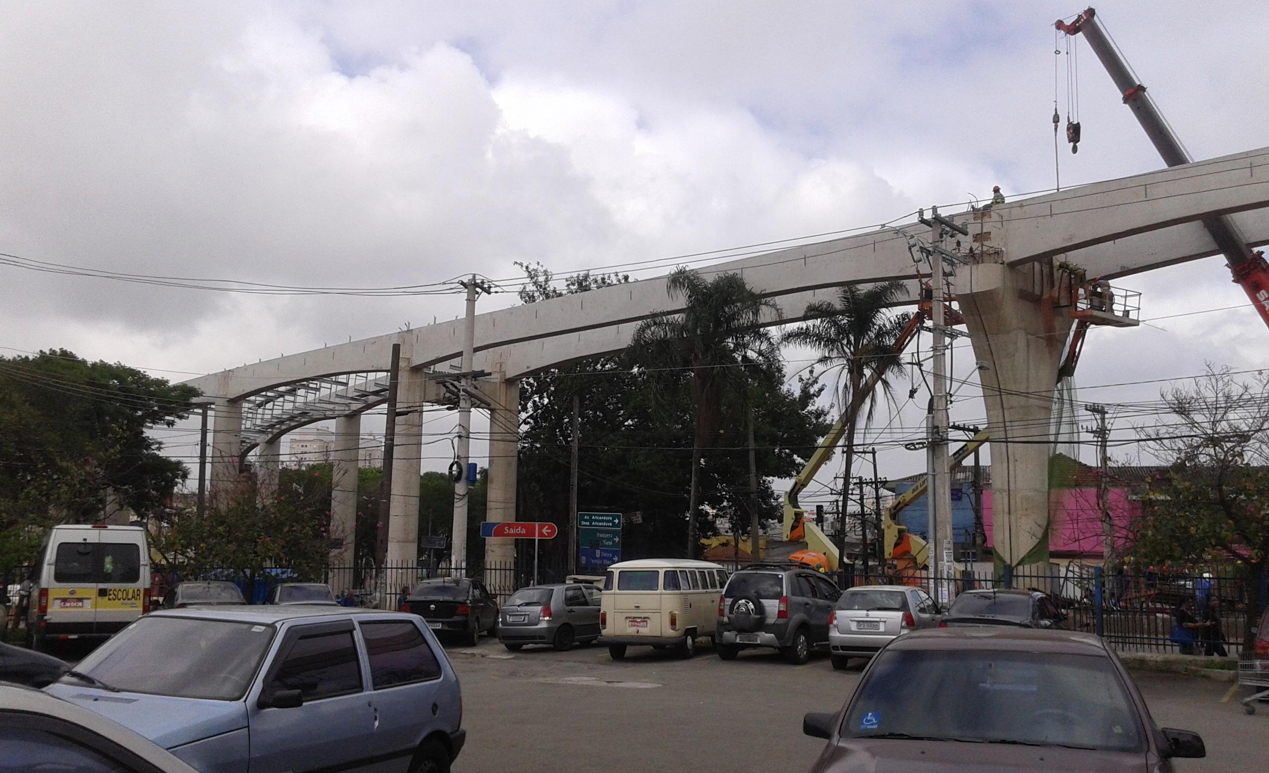 Estação Jardim Colonial ragueb monotrilho jardim colonial