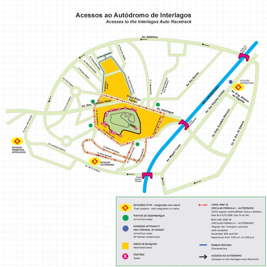 mapa do autódromo