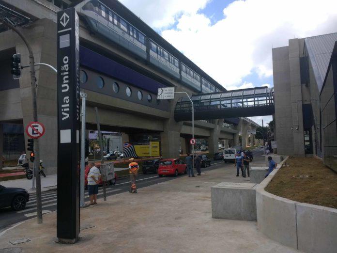 Testes nova estação vila união Linha 15-Prata