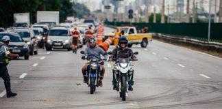 foto teste de carga Marginal Pinheiros