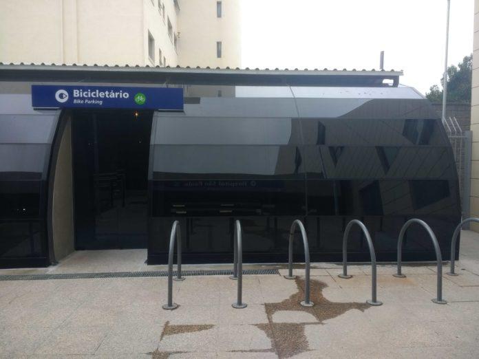 bicicletário Linha 5-Lilás hospital são paulo