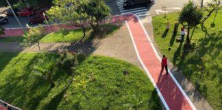 ciclofaixa parque cecap