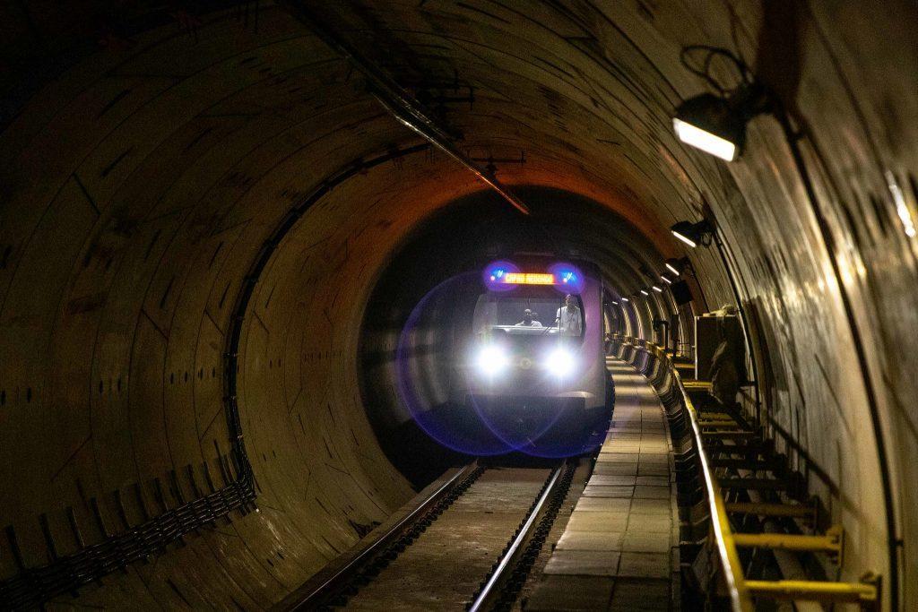 estação campo belo trem túnel