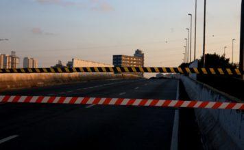 Ponte do Jaguaré interditada
