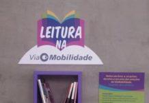 Leitura na ViaMobilidade Doação de livros
