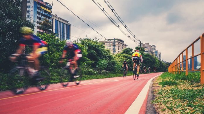 Bicicletas na ciclovia