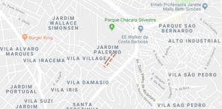Rua José Antônio de Oliveira no Jardim Palermo