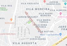 Rua das Palmeiras no Gopoúva