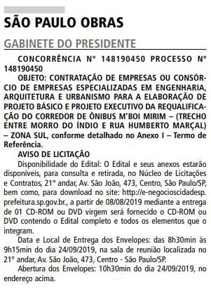 São Paulo Obras Estrada do M'Boi Mirim