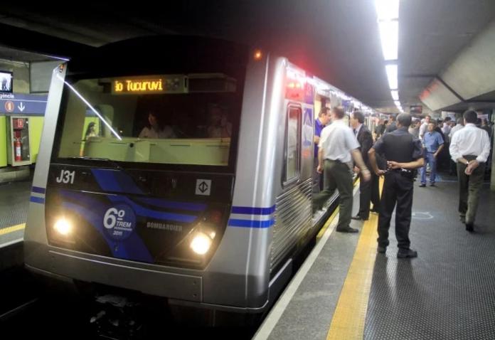 Novos trens Trem frota J Agente de Segurança Linha 1-Azul