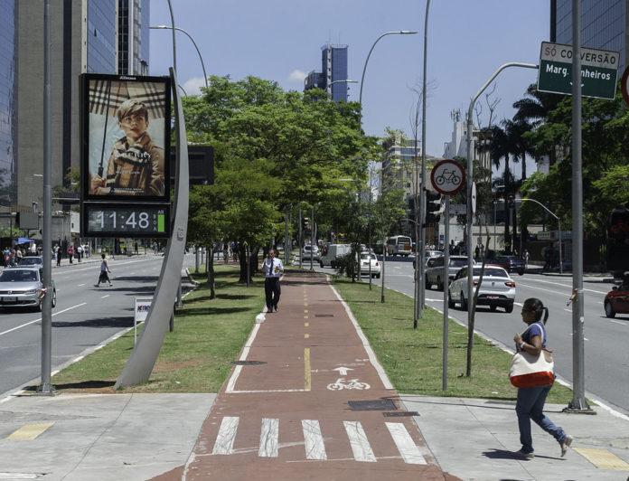 Ciclistas Ciclovia da Faria Lima